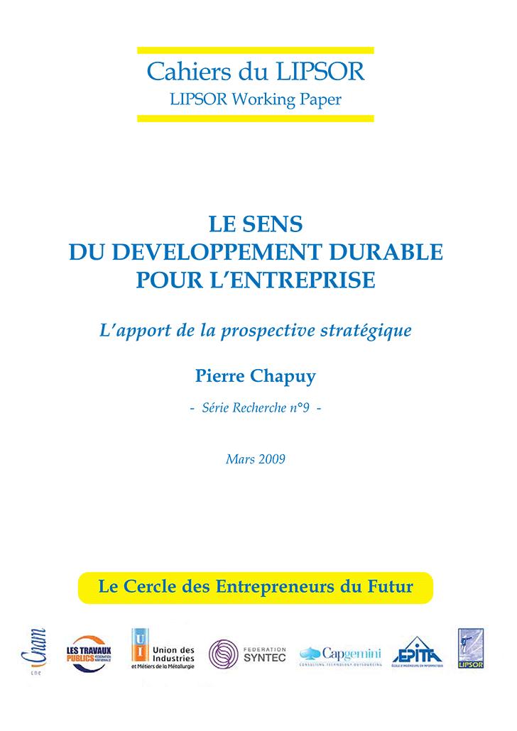Cahier du LIPSOR, série recherche, n°9, mars 2009