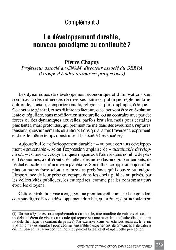 « Créativité et innovation dans les territoires, Rapport n° 92 »
