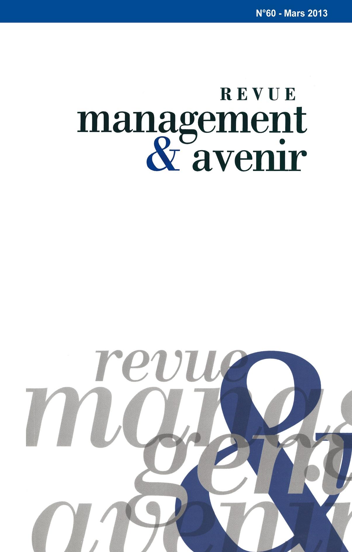 Management & Avenir, Revue généraliste, Publication des articles originaux de chercheurs en gestion, d'enseignants et de responsables d'entreprises et d'organisations